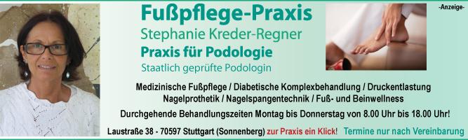 Medizinische Fußpflege und Podologie in Stuttgart-Sonnenberg.