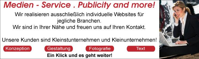 Medien - Service . Publicity and more! in Stuttgart-Fasanenhof Ihre persönliche Werbeagentur. Konzeption - Gestaltung - Fotografie - Text - responsive Websites und einiges mehr
